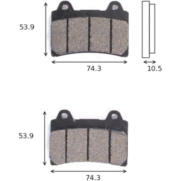 disk brake pads Lucas MCB 559 ABE approved