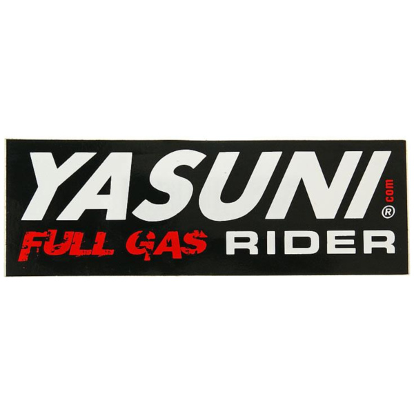 sticker Yasuni Full Gas Rider 110x38mm YAZ-STICKER3