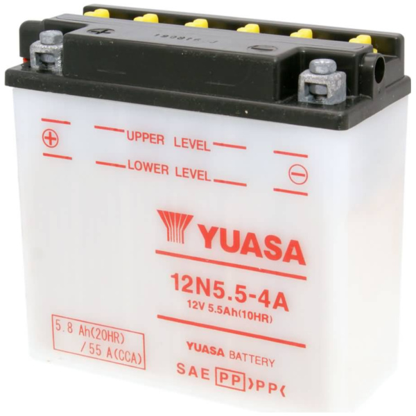 battery Yuasa 12N5.5-4A w/o acid pack YS36191