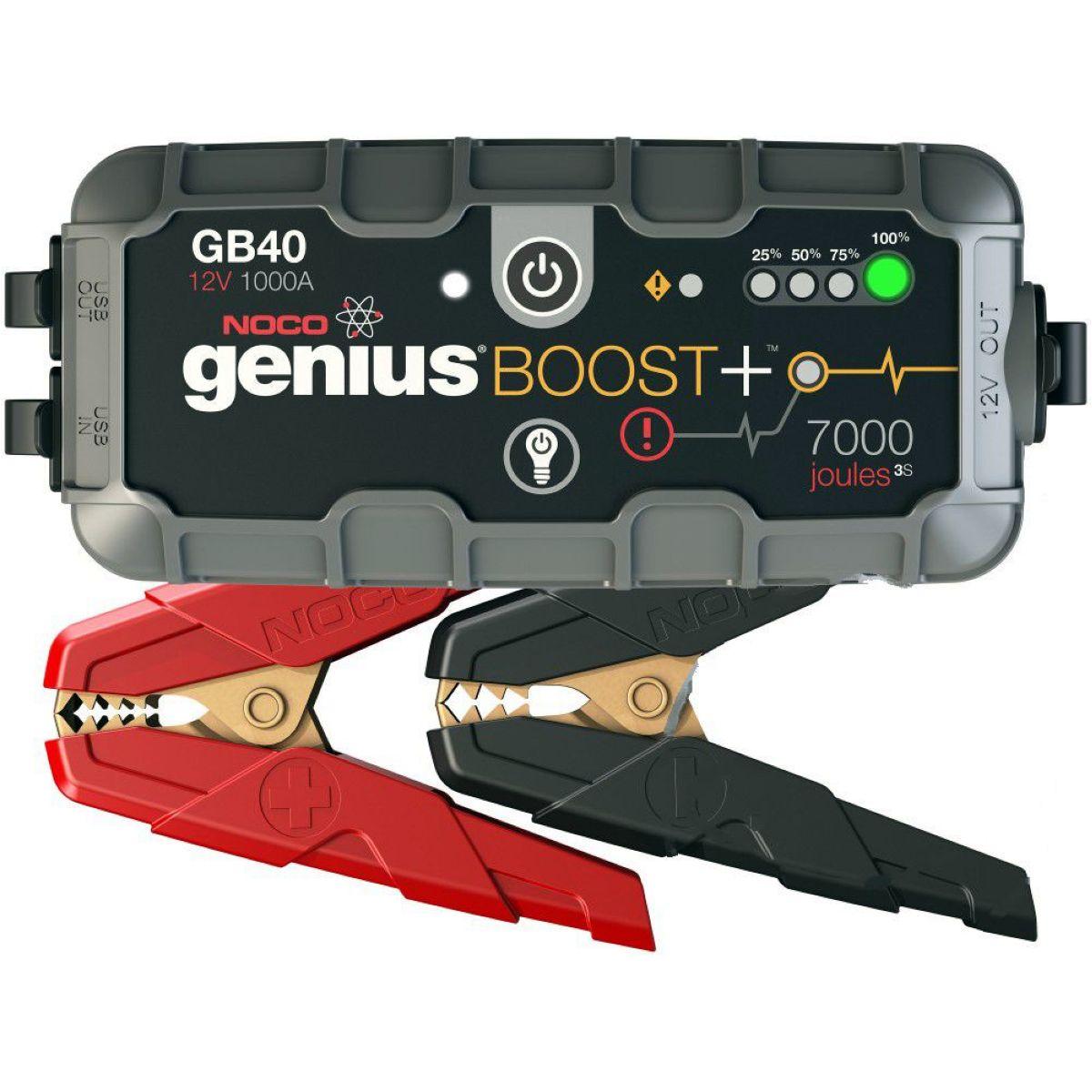 Noco Ladekabel mit Klemmen Noco gross für BOOSTER GB20 GB40 GBC001