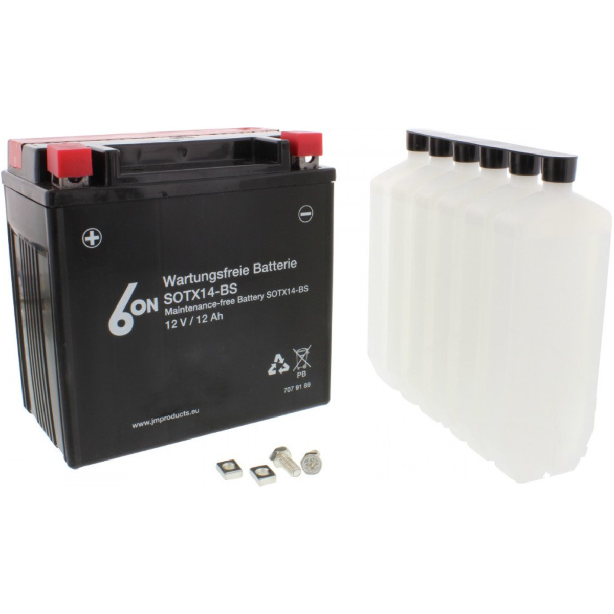 Motorcycle Battery Ytx14 Bs 6 On