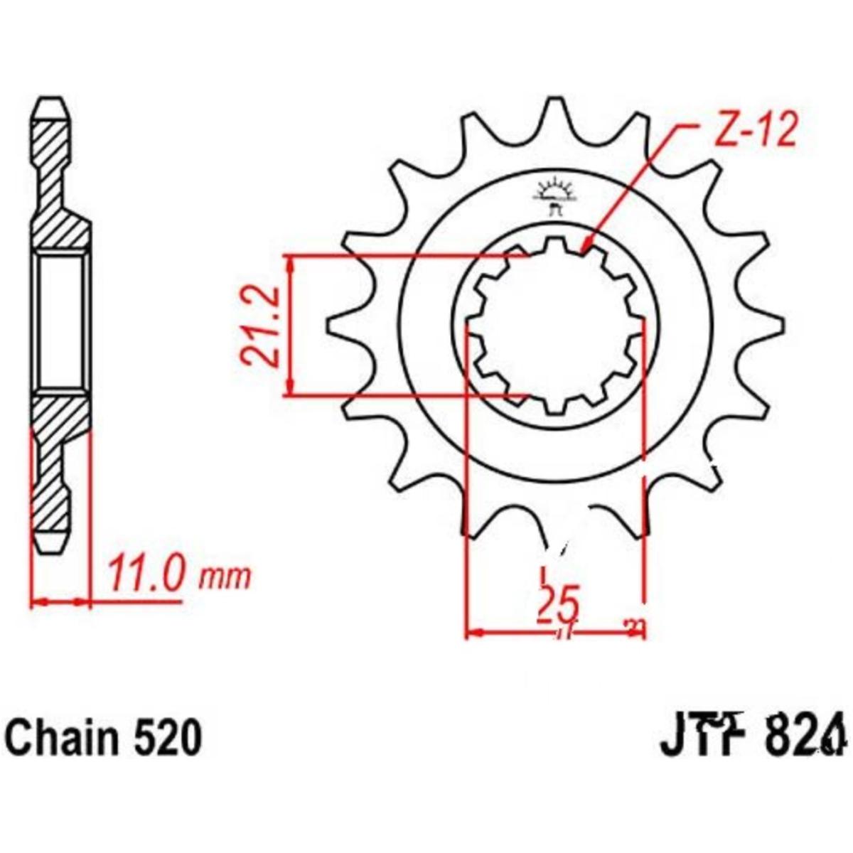 Kettenrad mit 48 Z/ähnen f/ür TE 400 2001-2002 von jt-Sprockets