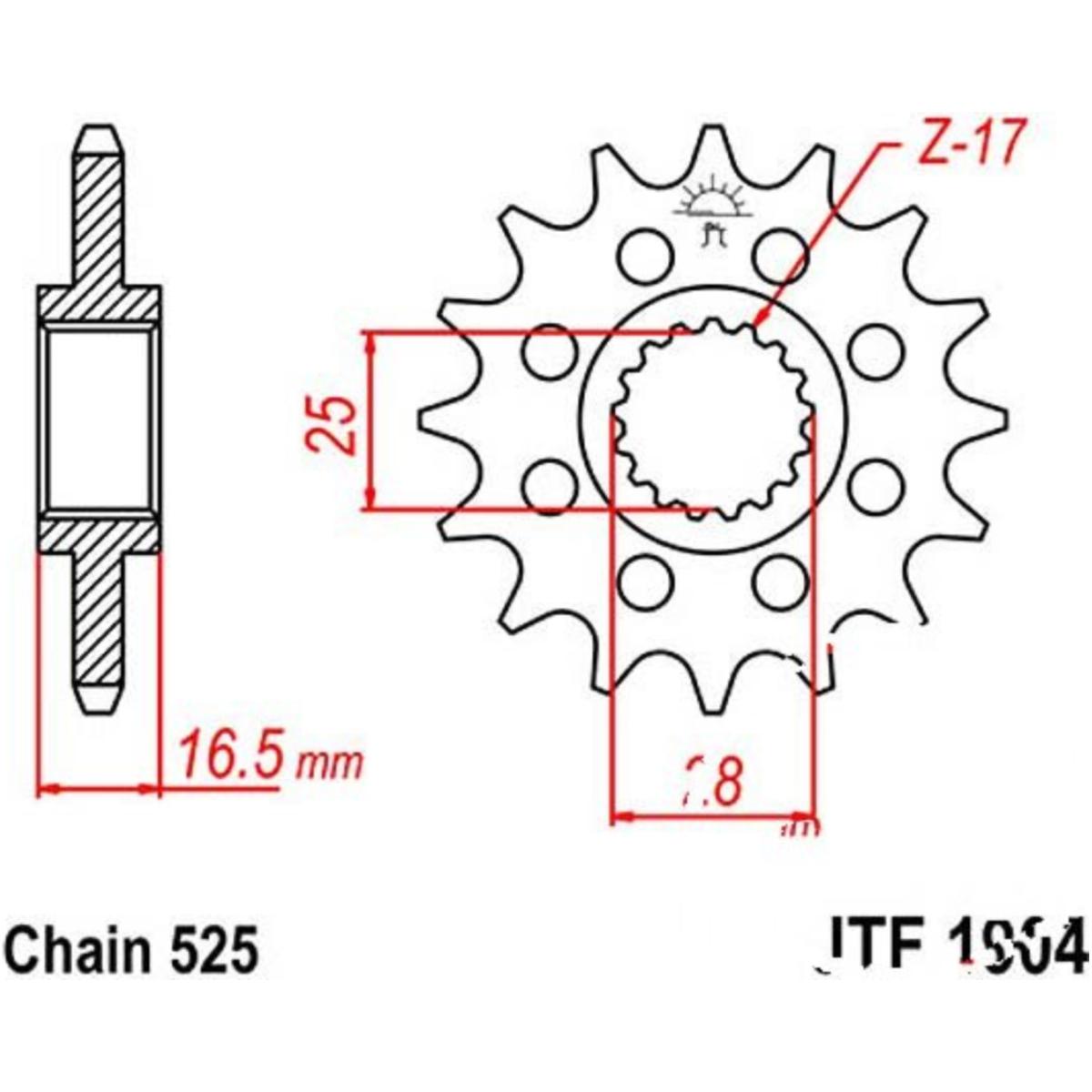 KTM RC8 1190 Sicherungsblech JMP Ritzel