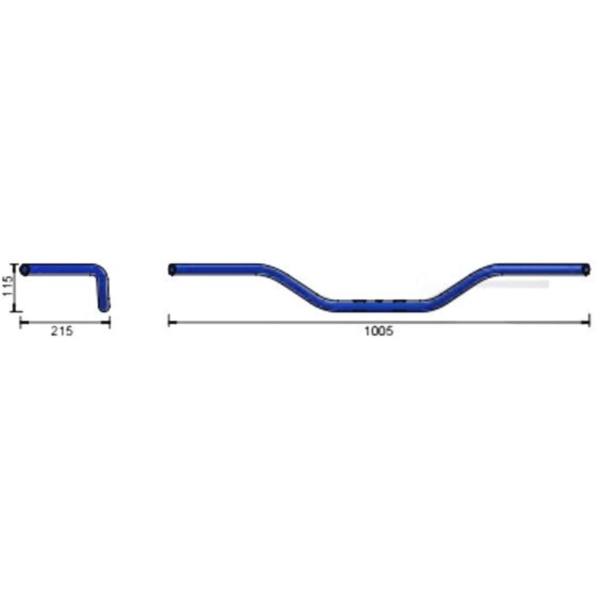 LSL Lenker Stahl 1ZOLL BUTTERFLY chrom 163L010.1CR 4251342900596