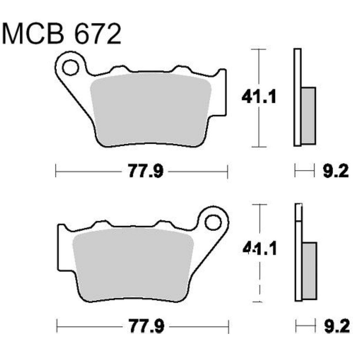 TRW Lucas Bremsbeläge MCB672SH hinten Husqvarna TE 125 4T