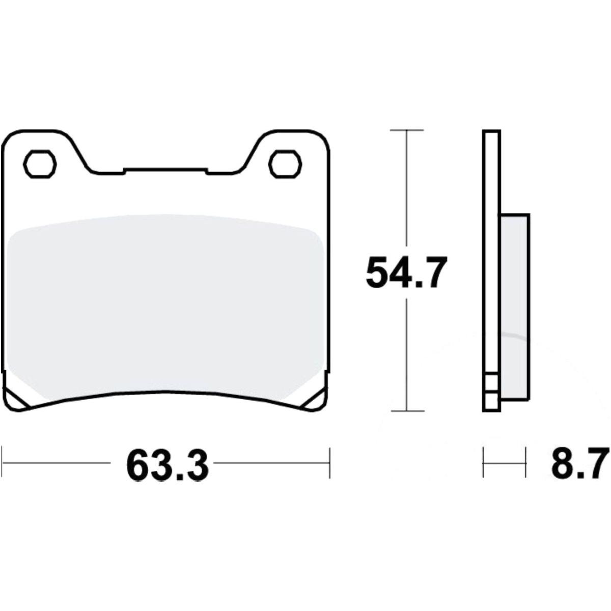 Scheibenbremsbeläge MCB530 für Yamaha Motorrad