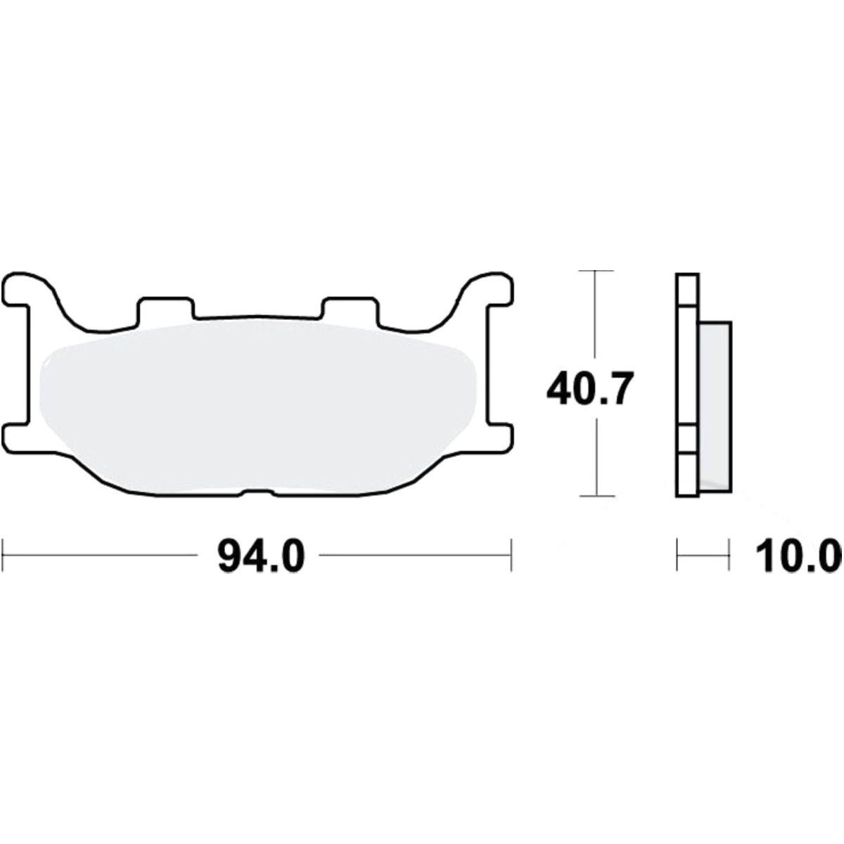TRW Lucas Bremsklotz Standard MCB666