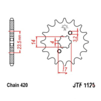 Front sprocket 11tooth pitch 420 JTF112811 für Aprilia SX  50 PVE00 2010, 4,9 PS, 3,6 kw