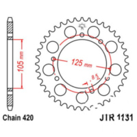 Rear sprocket 52 tooth pitch 420 JTR113152 für Aprilia SX  50 PVE00 2010, 4,9 PS, 3,6 kw