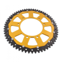 sprocket Dual 62Z Pitch 420 gold für Aprilia SX  50 PVE00 2010, 4,9 PS, 3,6 kw