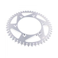 Alu- sprocket 48Z Pitch 520 silver für Aprilia RXV  450 VPH00 2007, 17 PS, 12,5 kw