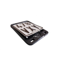 license plate  CLICK reinforced black für Aprilia SR Street 50 TEA00 2007, 3,7 PS, 2,7 kw