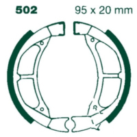 Brake shoes rear with springs ebc Y502