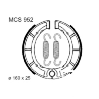 Brake shoes inc springs trw MCS952