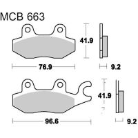Brake pads scooter sintered srm trw MCB663SRM