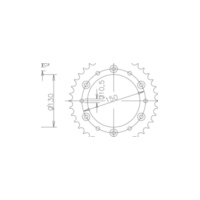Rear sprocket, 40 teeth 92-32001-40 für Yamaha YZ  250 CG18C 2004, 42 PS, 31 kw (alternativ)