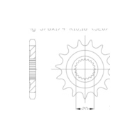 Pinion gear, 13 teeth 92-32109-13 für Yamaha YZ  250 CG18C 2004, 42 PS, 31 kw (standard)