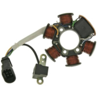alternator stator for Piaggio engine with carburetor (99-) 19007 für Aprilia SR Street 50 TEA00 2007, 3,7 PS, 2,7 kw