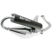 exhaust Tecnigas Q-Tre chrome for Piaggio 26270 für Aprilia SR Street 50 TEA00 2007, 3,7 PS, 2,7 kw