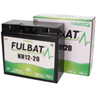 battery Fulbat NH12-20, NH12-18 GEL for ride-on mower, mowing machine FB550917