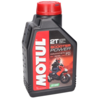 Motul engine oil 2-stroke Scooter Power synthetic 1 liter MOT832101 für Benelli 491 Replica 50 ND0200P 2003, 2,7 PS, 2 kw