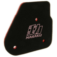 air filter foam insert Naraku double layer for Minarelli horizontal NK303.01 für Benelli 491 Replica 50 ND0200P 2003, 2,7 PS, 2 kw