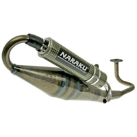 exhaust Naraku crossover clear coating/yellow-carbon NK400.02