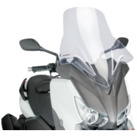 windshield Puig V-Tech Line Touring transparent / clear for Yamaha X-Max 125, 250, 400 2014- PUI6874W