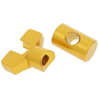 brake cable adjuster set M6 thread aluminum gold - universal VC20691 für Aprilia SR Street 50 TEA00 2007, 3,7 PS, 2,7 kw