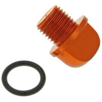 oil filler screw / oil screw plug aluminum orange in color incl. o-ring for Minarelli VC21177 für Benelli 491 Replica 50 ND0200P 2003, 2,7 PS, 2 kw
