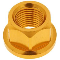 front wheel lock / axle nut aluminum gold anodized M12x1.75 VC21206 für Benelli 491 Replica 50 ND0200P 2003, 2,7 PS, 2 kw