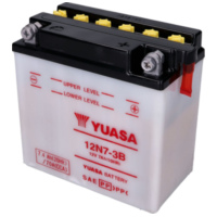 battery Yuasa 12N7-3B w/o acid pack YS36180