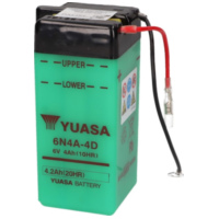 battery Yuasa 6N4A-4D w/o acid pack YS36205